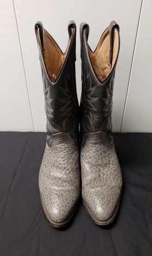 Palomino Ostrich/Leather Grey Boots Men's Size 9 1/2 E for Sale in Clearwater, FL