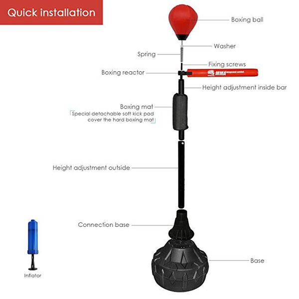MMA Boxing Speed Trainer Punching Bag Spinning Bar