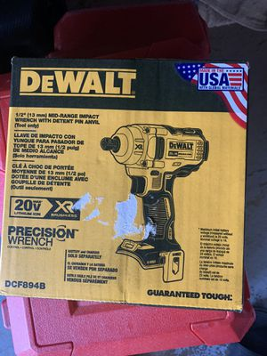 20V MAX* XR® 1/2 IN. MID-RANGE CORDLESS IMPACT WRENCH WITH DETENT PIN ANVIL (TOOL ONLY) for Sale in NEW CARROLLTN, MD