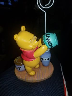 Disney Store Winnie the Pooh Hunny Jar Note Card Photo Picture Holder Figurine for Sale in Middle River, MD