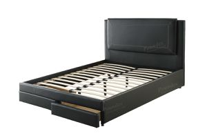 Brand new brown leather queen storage bed frame for Sale in San Diego, CA