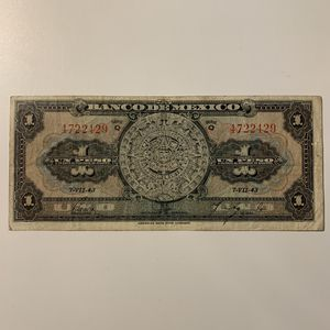 1943 one Mexico Pesos Banknote. 77 years old Currency. Mexican Billetes. Notes, Bills. for Sale in Atlanta, GA