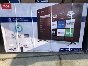 """TCL 65S517 65"""" 4K UHD HDR ROKU SMART TV 2160P *FREE DELIVERY* for Sale in Everett, WA"""
