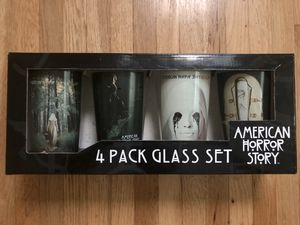 Collectible AHS American Horror Story beverage glasses, 4pcs for Sale in Los Angeles, CA
