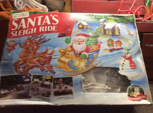 Unique Vintage Santa's Sleigh Ride For Under The Christmas Tree for Sale in Torrington, CT