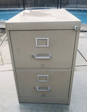 Large 2 drawer vertical filing cabinet for Sale in Chino, CA