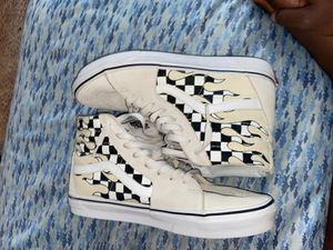 Vans Sk8-Hi Checkerboard Flame White for Sale in Brentwood, NC