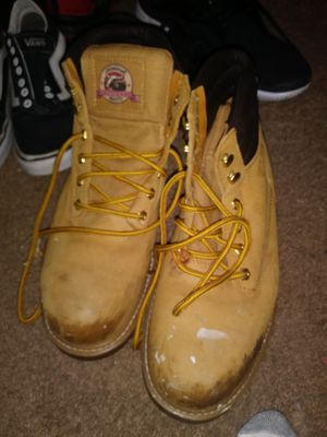 Steel toe work boots size 8.5 for Sale in Puyallup, WA