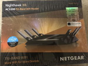 NETGEAR Nighthawk X6 AC3200 Tri-Band WiFi Router, Gigabit Ethernet, Alexa Enabled- Brand New for Sale in Frisco, TX