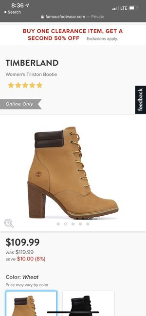 timberland heels size 8.5 NEW w box for Sale in Arlington, WA