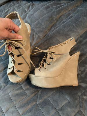 Tan Wedge Heels for Sale in Tarpon Springs, FL