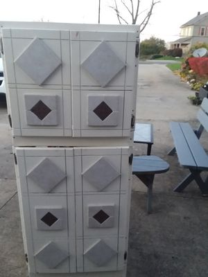 Storage cabinet solid wood for Sale in Geneva, OH
