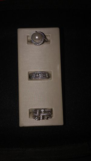Three 14k white gold diamond rings for Sale in Minneapolis, MN