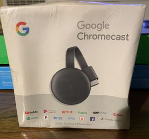 Google Chromecast - Charcoal (3rd Generation) for Sale in South Gate, CA