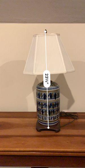 Frank Loyd Wright inspired ceramic lamp for Sale in Virginia Beach, VA