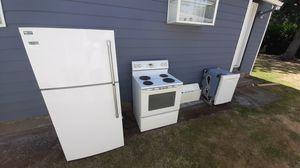 Appliance Bundle - Stove / Range, Refrigerator, Dishwasher and Hood for Sale in Portland, OR
