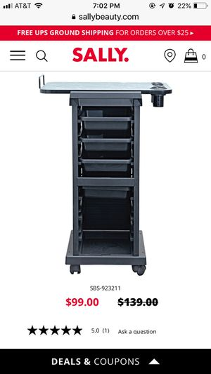 Sally Mate salon Trolley with Topper for Sale in Anaheim, CA