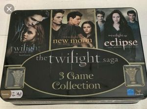 The Twilight saga 3 game collection kids girls boys board games card toy collectors tin for Sale in Cary, NC