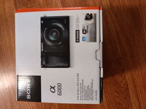 Brand New Sony Alpha A6000 Mirrorless Camera. Comes with everything in box for Sale in Riverside, CA