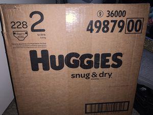 Size 2 Snug & Dry Huggies for Sale in Salt Lake City, UT