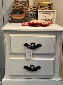 Refinished White Two Drawer Nightstand for Sale in Sumner,  WA