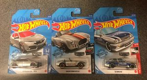 HOT WHEELS WALMART EXCLUSIVE ZAMAC 3 CAR SET INCLUDES SHELBY COBRA, BMW M3 & HONDA CIVIC TYPE R (2ND SET) for Sale in Claremont, CA