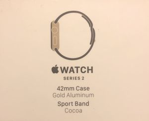 Apple Watch series 2 42mm gold aluminum case sports band cocoa for Sale in Jacksonville, FL