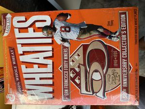 Wheaties 1996 San Francisco 49ers 50th anniversary cereal box unopened sealed for Sale in North Miami Beach, FL
