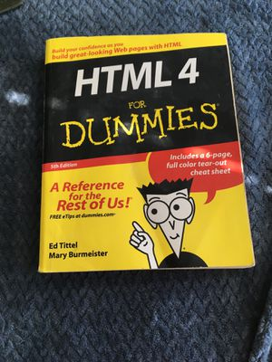HTML 4 for dummies for Sale in Chico, CA