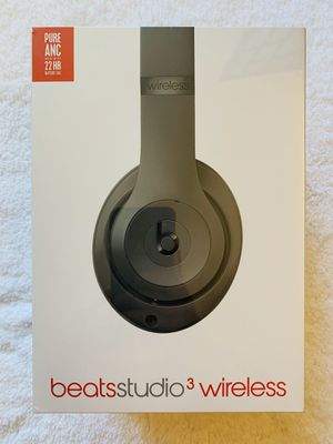 Beats Studio 3 Wireless Headphones - Gray for Sale in Chicago, IL