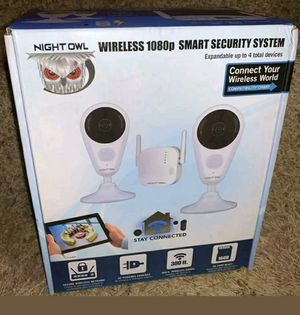 Night Owl 4 Channel 1080p Video Security System x 2 Powered Wireless Cameras for Sale in Birmingham, AL