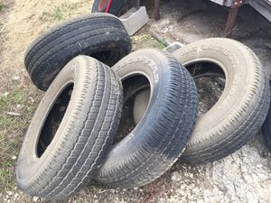 "Good year tires Wranglers 265-55R18 Jeep tires $250. Heavy Duty ramps 52""T x 16""W $150 GMC Wheels 17x9 $200 for Sale in San Antonio, TX"
