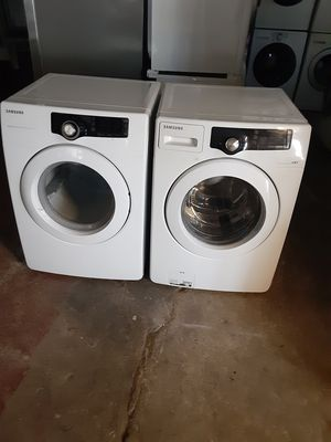 Washer and dryer Samsung electric dryer good condition 3 months warranty delivery and install for Sale in Oakland, CA