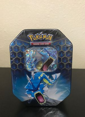 Pokemon Hidden Fates TCG Gyarados GX Tin Factory Sealed for Sale in Tampa, FL