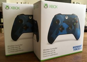 *NEW* x2 Microsoft Xbox One Wireless Controller Midnight Forces II Special Edition for Sale in Washington, DC
