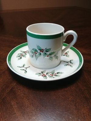 Spode England Christmas Tree espresso cup and saucer for Sale in PT ORANGE, FL