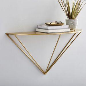 West Elm Triangular Brass Metal Shelf for Sale in Zephyrhills, FL