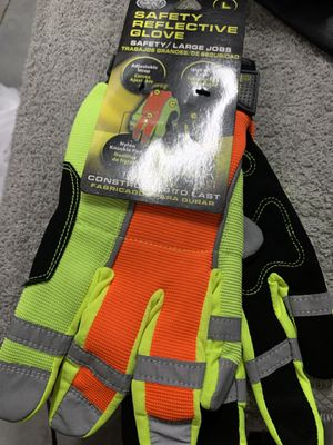 Brand new and available safety reflective gloves for Sale in Hialeah, FL