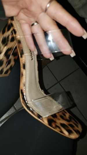 Clear strap cheetah heels for Sale in West Covina, CA