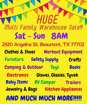 Huge Multi Family Warehouse Sale!!! for Sale in Beaumont, TX