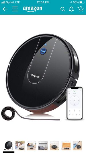"Robot Vacuum - 1600PA Wi-Fi Connected APP Schedule Cleaning Robotic Vacuum Cleaner , Striped Panel, 2.7"" Super-Slim, Boundary Strips Included, Ideal for Sale in Hillsborough, CA"