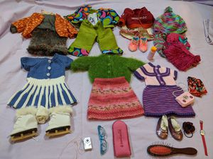 Doll clothes & accessories with box for Sale in Edmond, OK