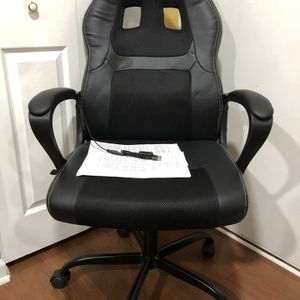 NEW—PC Gaming Chair Office Chair Ergonomic Desk Chair Adjustable PU Leather Racing Chair with Lumbar Support Headrest Armrest Task Rolling Swivel Comp for Sale in Bloomingdale, IL
