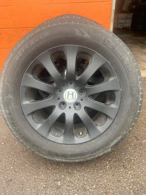 Honda oddysey rims tires 17s 2005 higher for Sale in Montgomery, IL