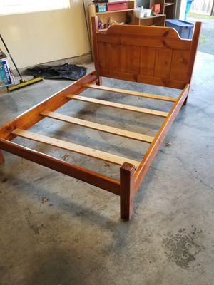 Full Bed Frame with Slats for Sale in Sumner, WA