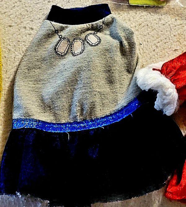 Blue dog 🐕 dress size XSMALL