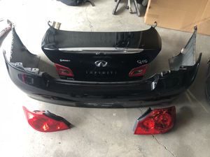 2015 Infiniti Q40 trunk back bumper tail lights for Sale in Reading, PA