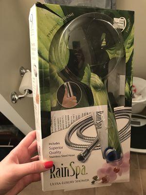 Chrome Rain Spa Shower Head Hose for Sale in Washington, DC