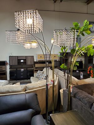 3-Headed Arc Crystal Floor Lamp for Sale in Fountain Valley, CA