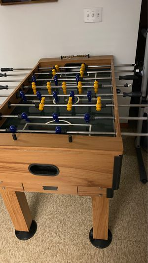 Three I'm One wooden Table fooseball pool and ping pong for Sale in Albany, NY